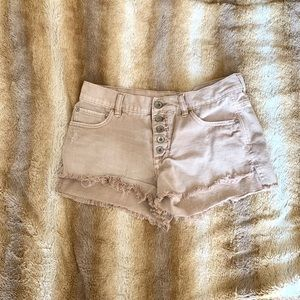 Free people button front shorts